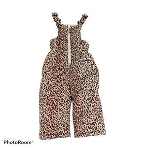 Pink Platinum Girls Leopard Snow Bib Sz 2T Cheetah